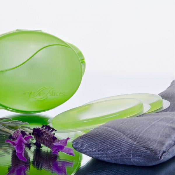 eyeSlices Eye PILLOW and storage clam